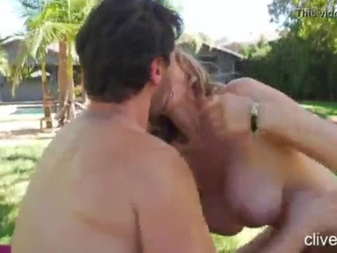 Blonde milf with big tits loves to fuck with facial